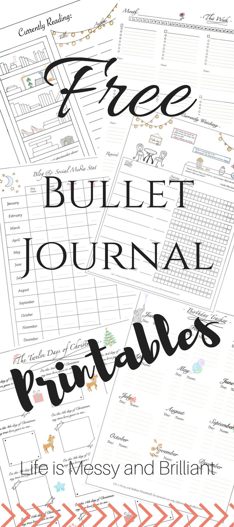 image about Bullet Journal Symbols Printable titled No cost Bullet Magazine Printables Bullet magazine symbols