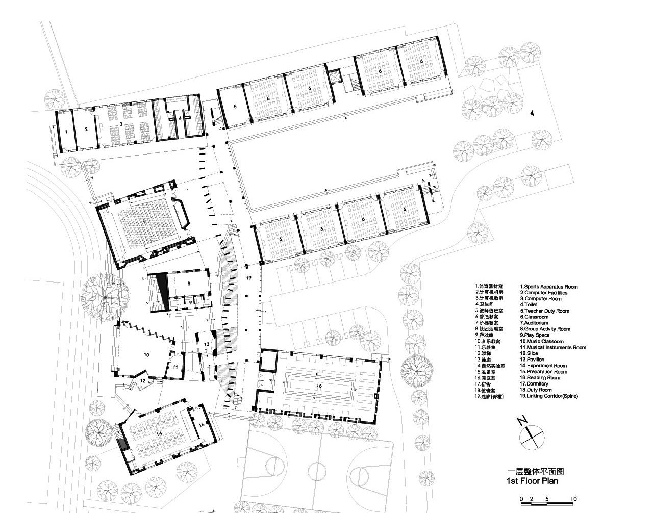Architecture School Plan gallery of xiaoquan elementary school / tao - trace architecture