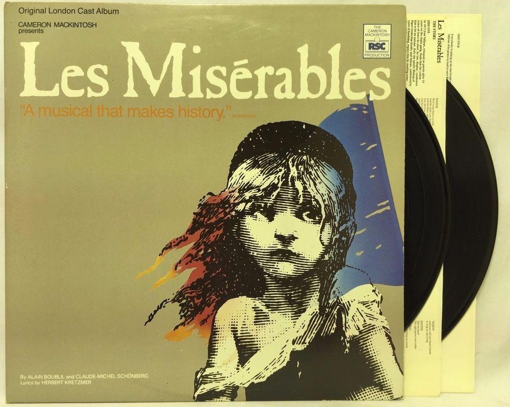 LES MISERABLES - Cast Recording Soundtrack 2LP Musical LP #Vinyl ...