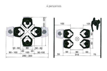 cuisine ou salle manger quel espace pr voir pour une table personnes espace et table. Black Bedroom Furniture Sets. Home Design Ideas