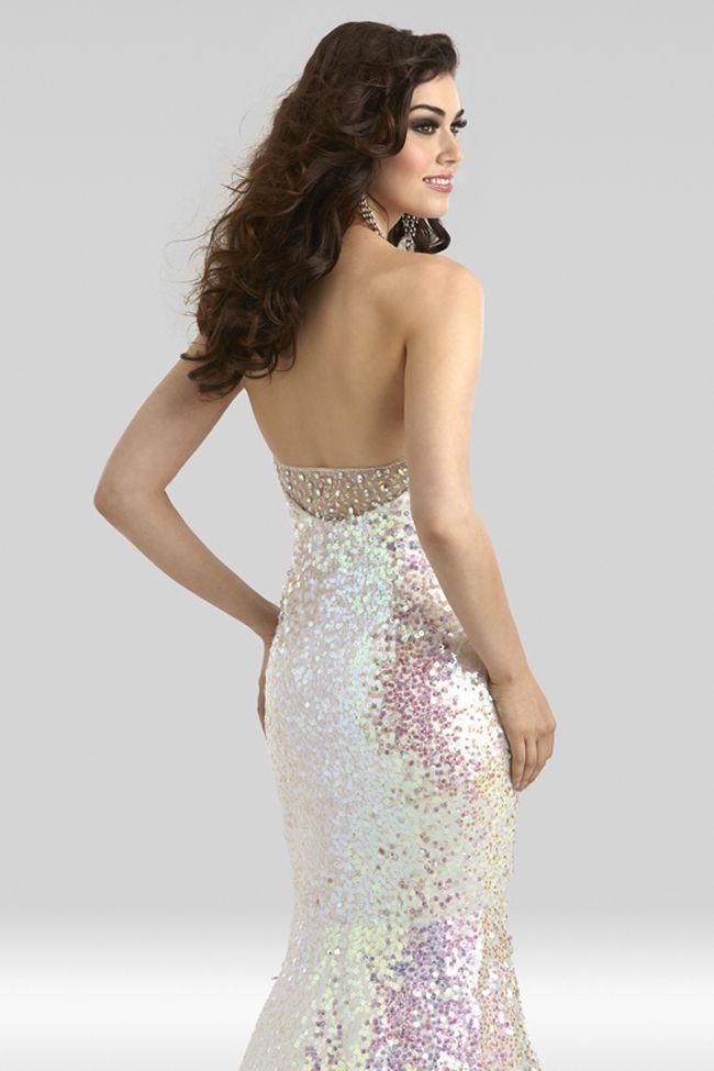 1de72c8d Clarisse 2014 Opal Strapless Sweetheart Mermaid Sequin Iridescent Prom Gown  2348 | Promgirl.net