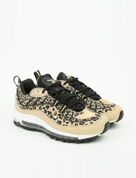 9bcc6038ea Nike Air Max 98 Premium Animal - Desert Ore/Volt Glow-Black-Wheat in ...
