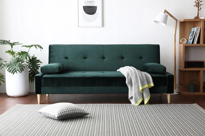 Sofa Butelkowa Zielen Rozkladana Trzyosobowa Welur 8444564076 Oficjalne Archiwum Allegro Furniture Home Decor Home