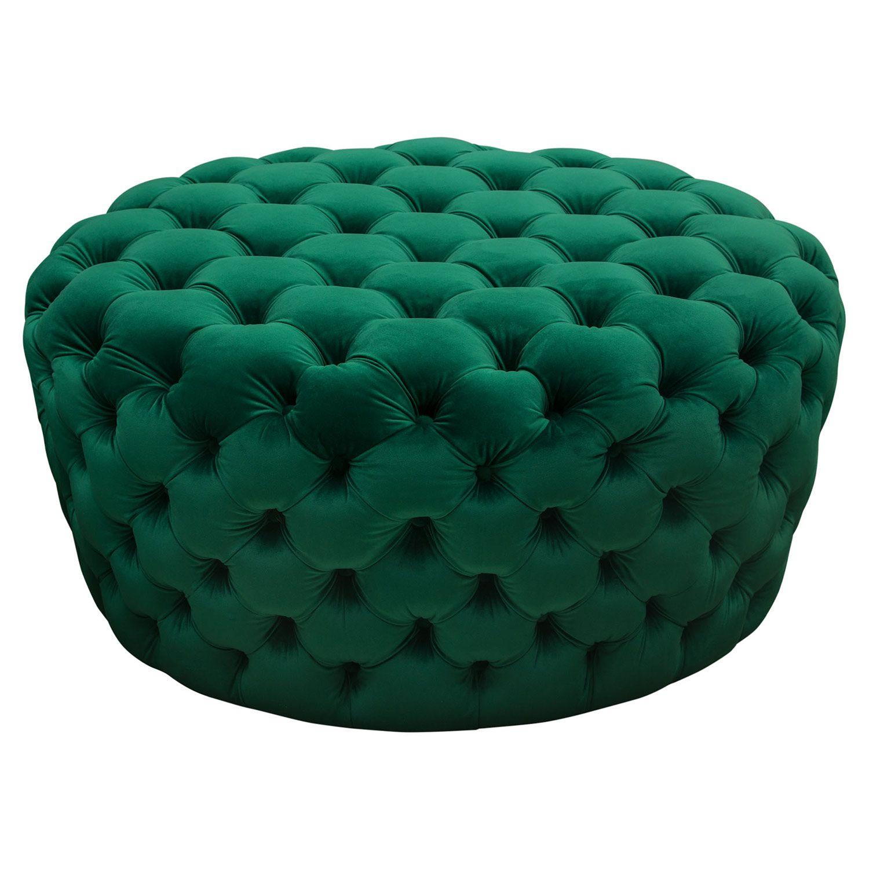 Magnificent Diamond Sofa Poshotem Posh All Over Tufted Round Ottoman Bralicious Painted Fabric Chair Ideas Braliciousco