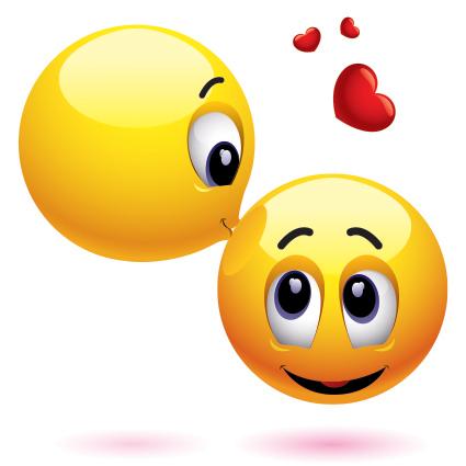 Kuss-Smiley-Gesicht