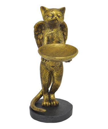 Another great find on #zulily! Gold Winged Angel Cat Figurine, $14 !!   #zulilyfinds