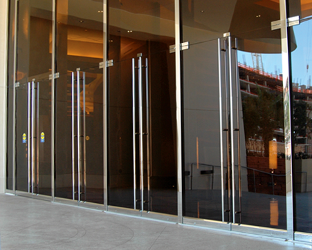 frameless glass entrance door - Google Search | Commercial ...