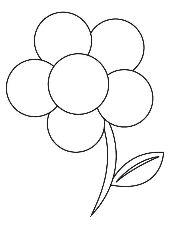 Printable Flower Coloring Page - wikiHow | Coloriage divers ...
