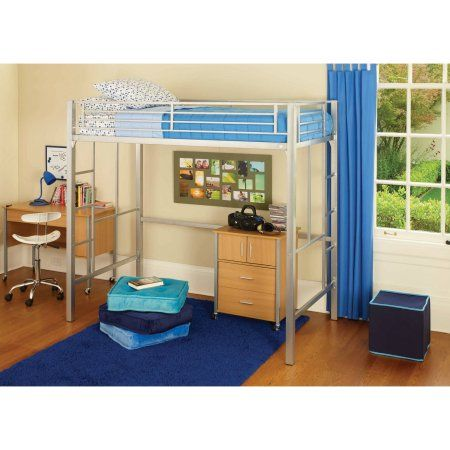 Home Twin Size Loft Bed Kids Bedroom Furniture Loft Bunk Beds