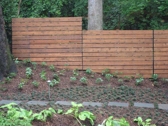 Modern Fence Modern Fence Backyard Fences Fence Landscaping