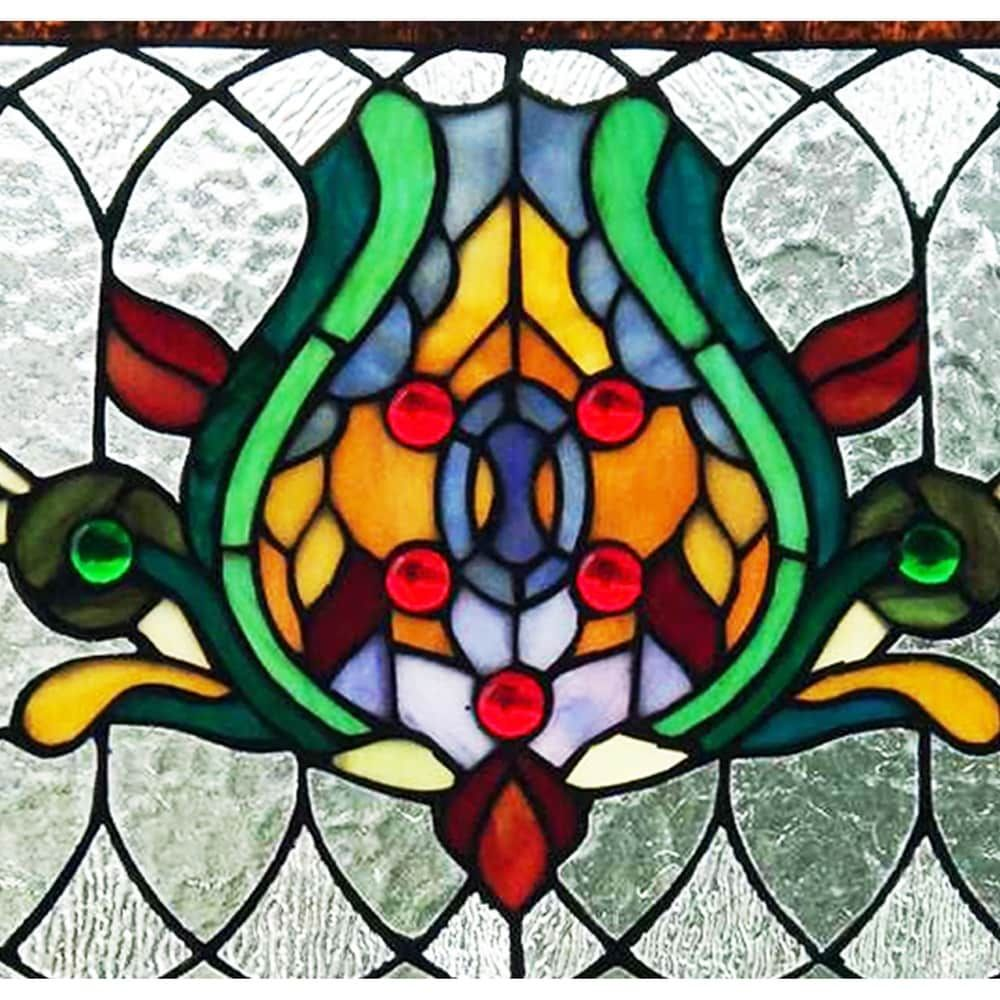 6197007c5 Shop River of Goods Fleur De Lis Stained Glass Pub Window Panel - Free  Shipping Today - Overstock.com - 23040499