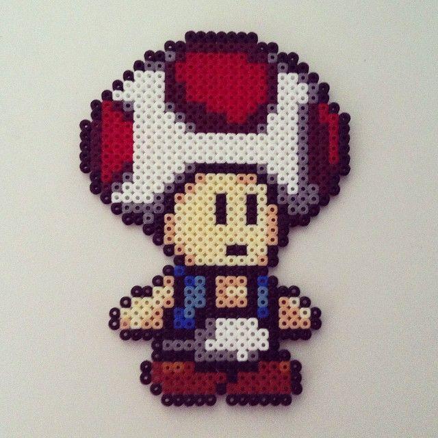 Toad Mario hama perler beads by color_shock | Perler - Super Mario ...