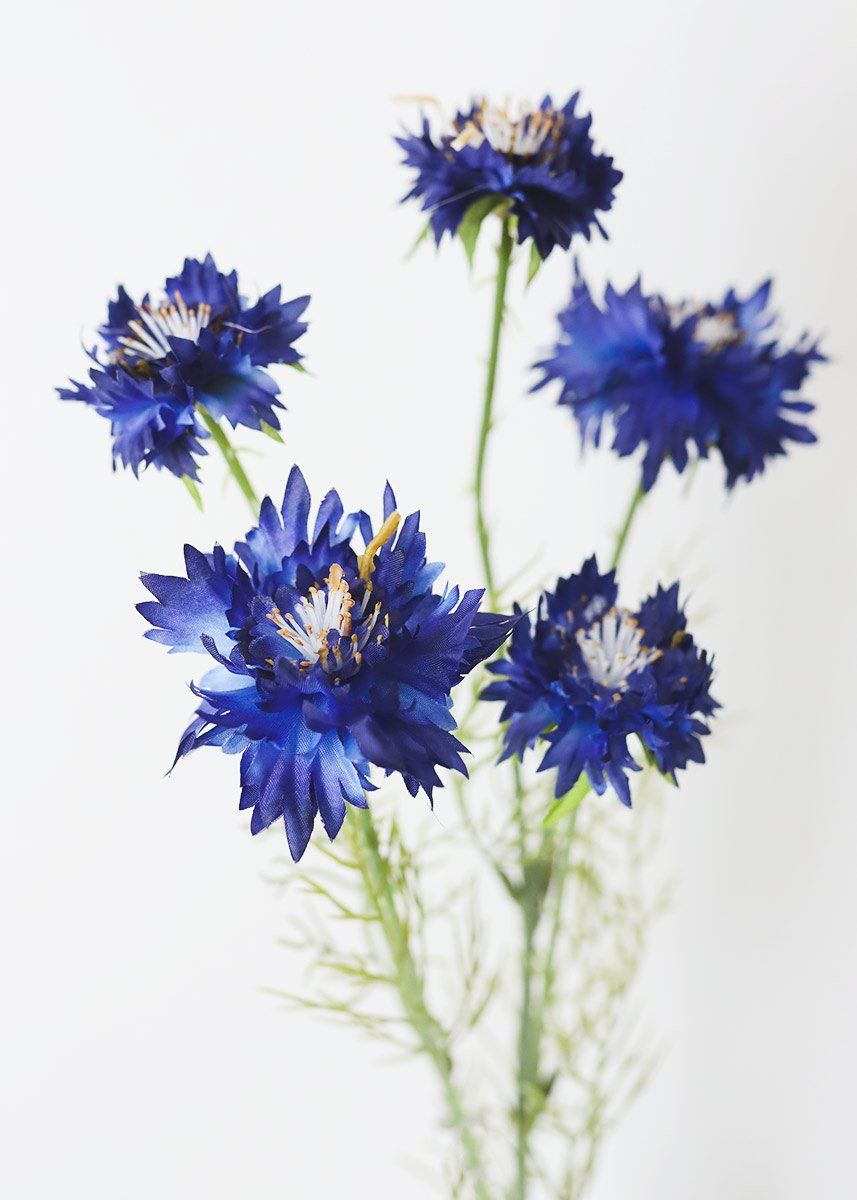 Blue Artificial Flowers Cornflower Wildflowers In 2020 Silk Flowers Wedding Artificial Flowers Greek Flowers