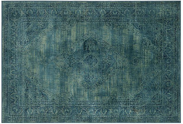 Medlin rug turquoise multi on kitchen - Alfombra verde agua ...