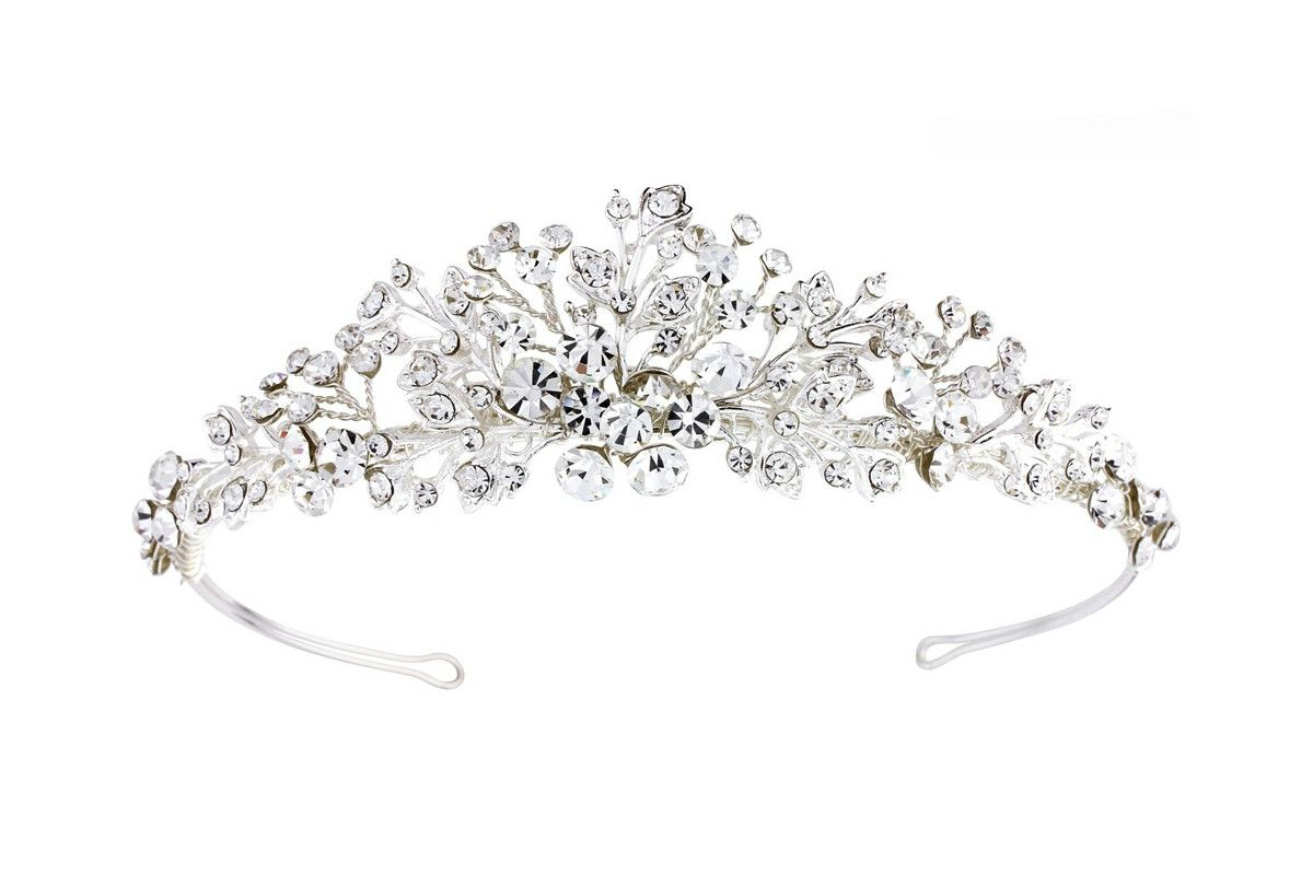 Caroline Crystal Tiara | Silver | Wedding Hair Accessories | Tegen Online | Tegen Accessories