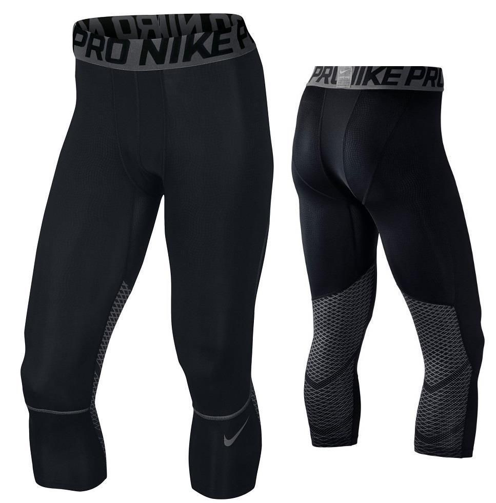 6db0503a Nike Mens Pro Hypercool 3Qtr Compression Training Pants Black Gray M  801225-010 #Nike #Pants