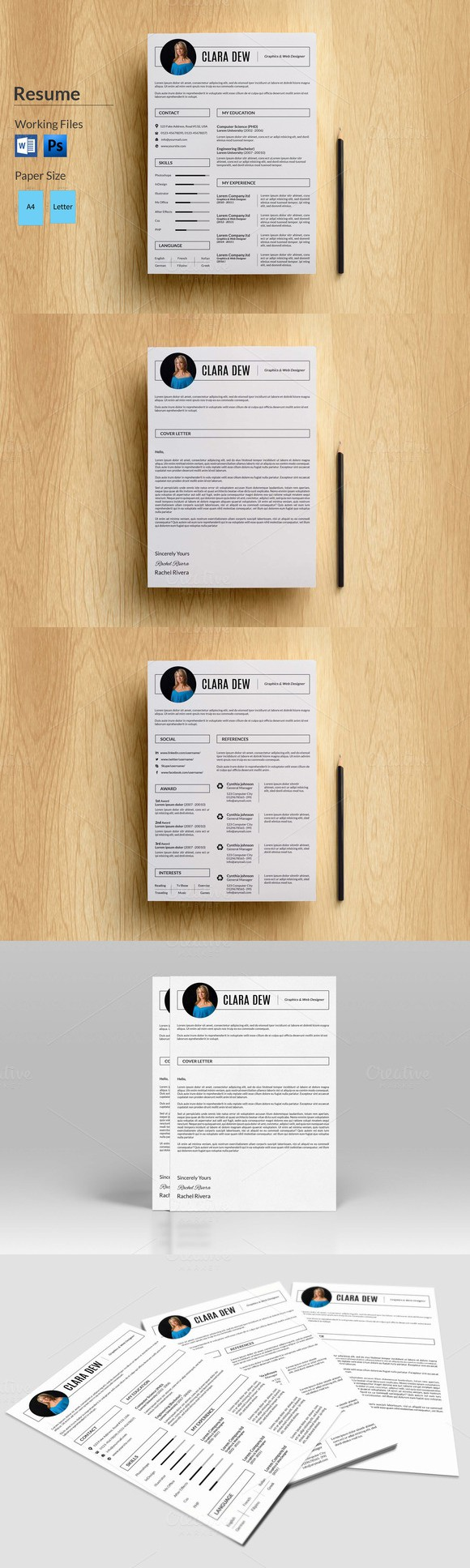 printable resume format%0A   Page Resume TemplateV