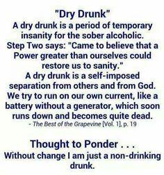 dry alcoholic personality traits