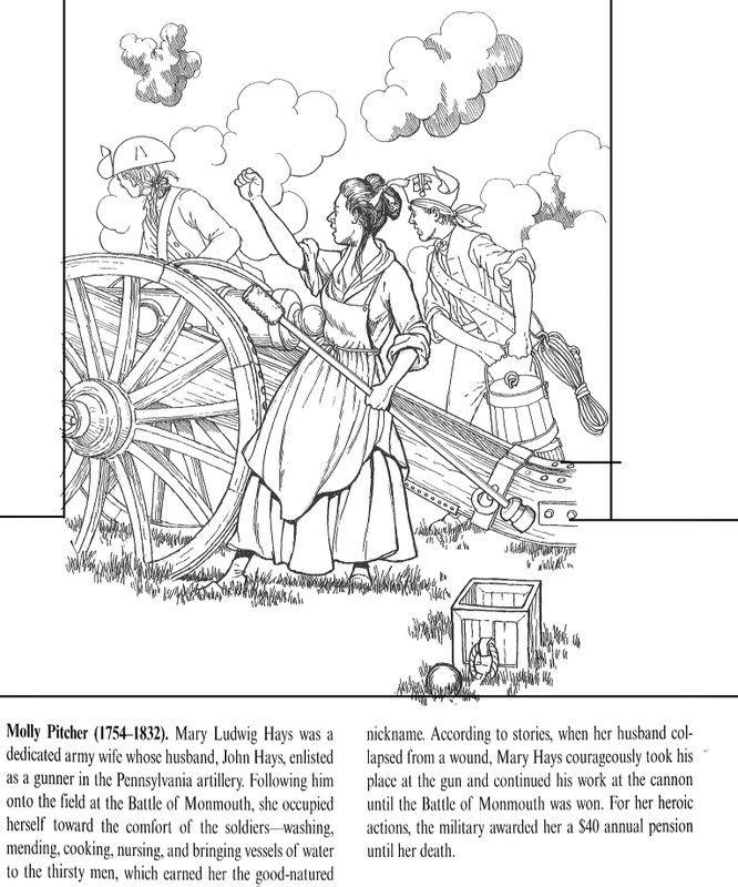 battle coloring   All Things John Adams: Coloring Pages: Deborah ...