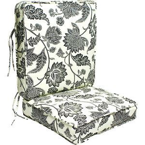 Outdoor Deep Seating Replacement Seat Cushion Cream And Black