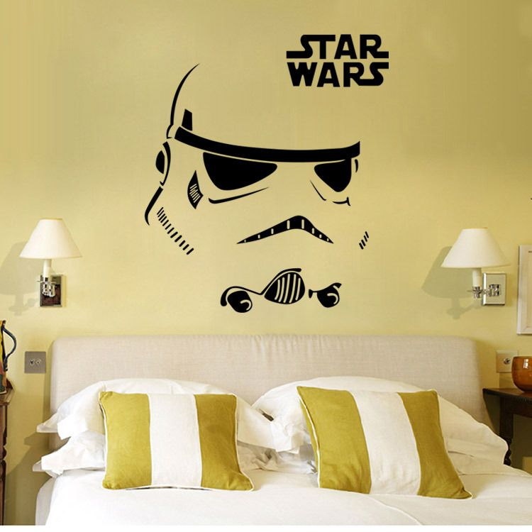 Star War Wall Stickers Living Room Bedroom Wall Decorative Stickers Removable Waterproof Wall Stick Star Wars Wall Art Star Wars Wall Sticker Star Wars Bedroom
