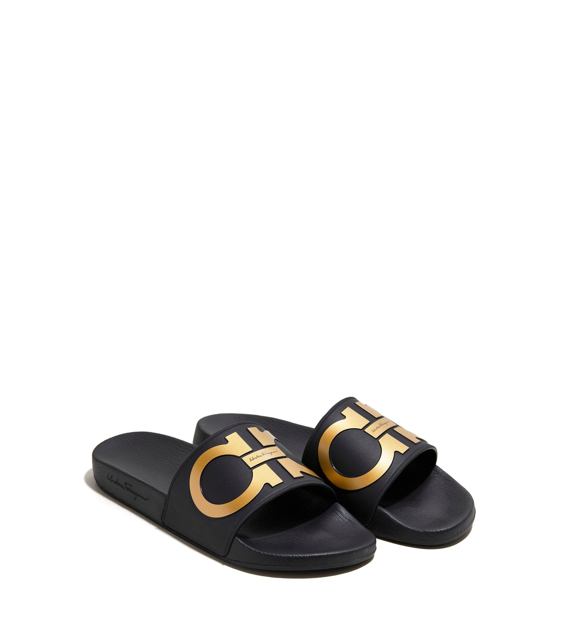 ce6768dfd2f Salvatore ferragamo gancini pool slide sandal shoes jpg 2400x2683 Pool  ferragamo sandals