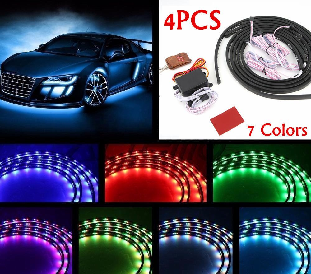 7 color led strip under car tube underglow underbody glow system 7 color led strip under car tube underglow underbody glow system neon lights kit aloadofball Gallery