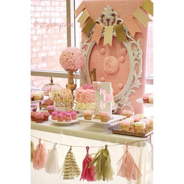 rosette cupcakes rosette dessert table rosette party ideas rosette diy party pink