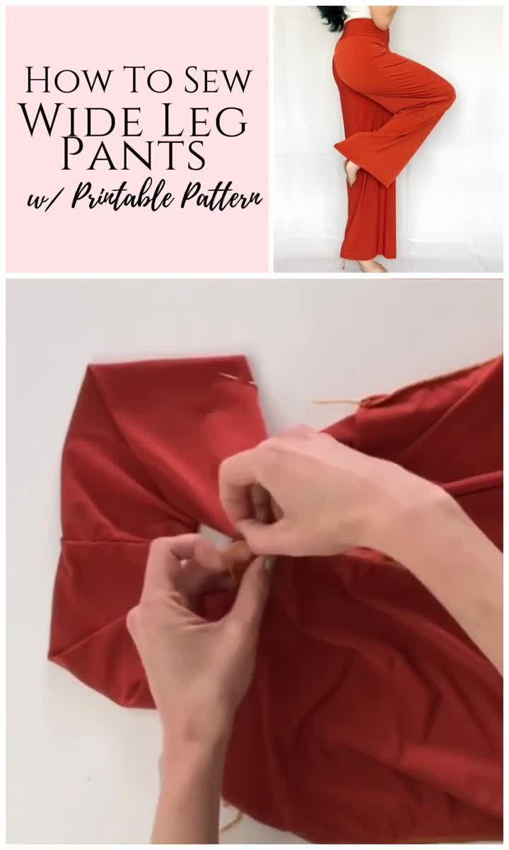 Easy DIY Womens Pants Pdf Sewing Pattern