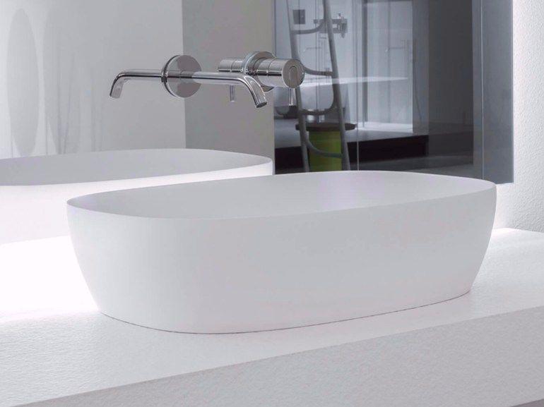 Lavabo da appoggio ovale in Flumood® SENSO by Antonio Lupi Design ...