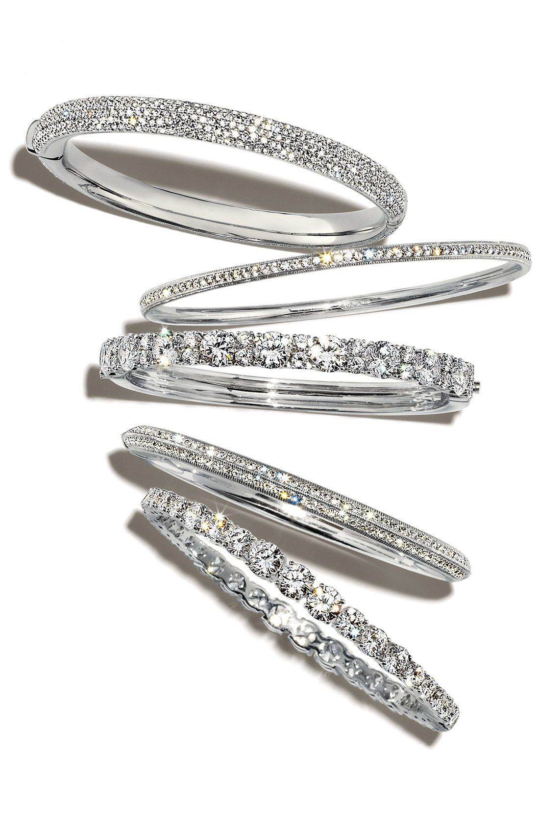 Pavé crystal bangle arms bangle and bracelets