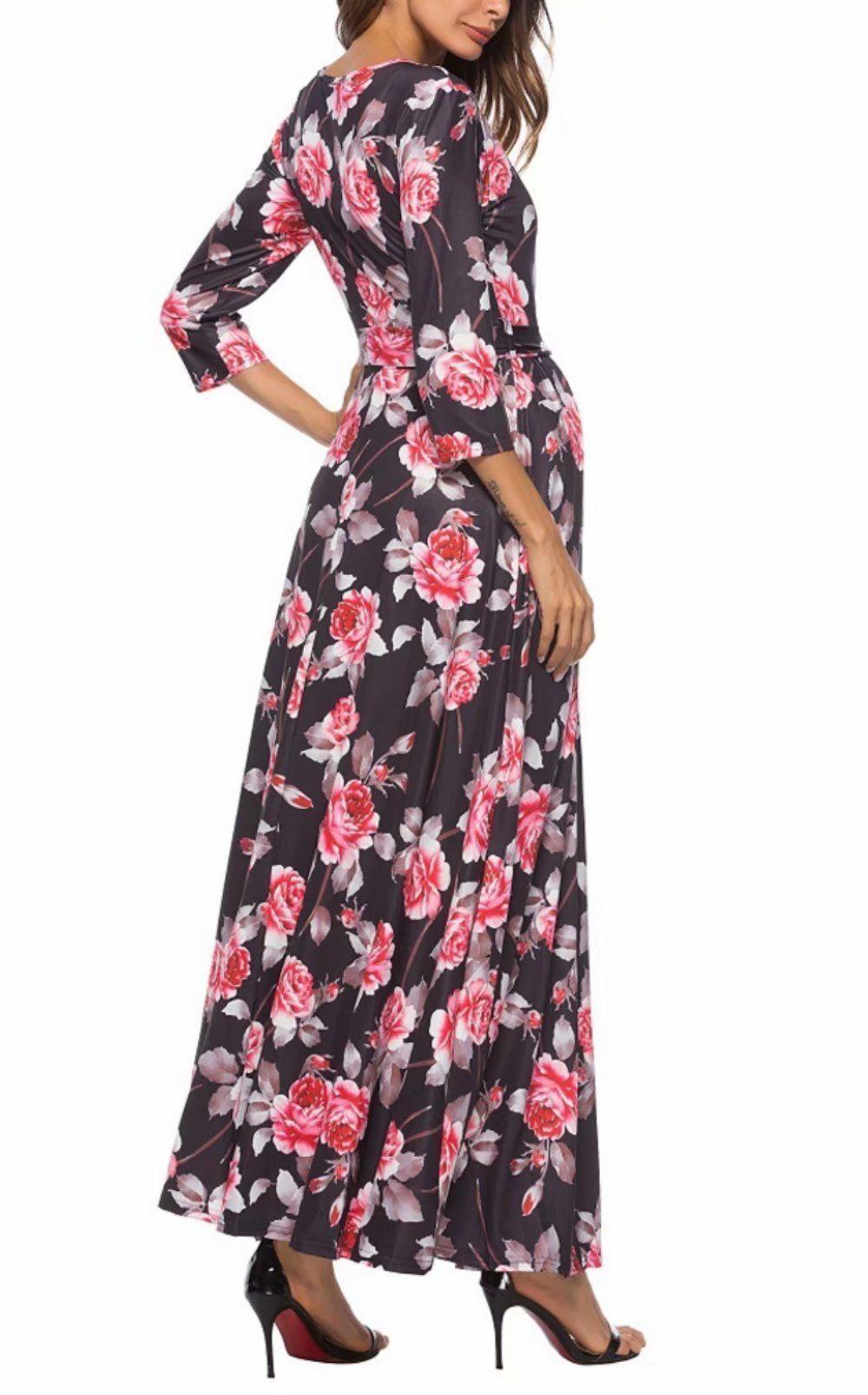 Maternity fashion modest maternity maxi dress jinting women