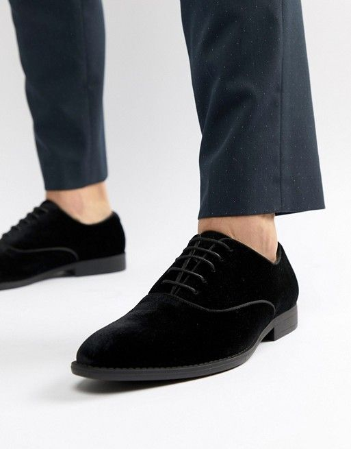 ASOS DESIGN lace up dress shoe in black