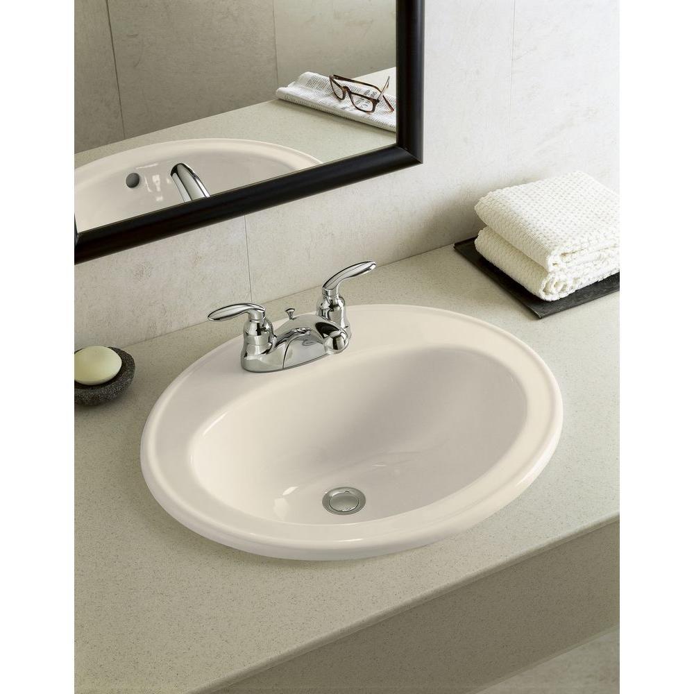 Kohler Pennington Drop In Vitreous China Bathroom Sink In Almond