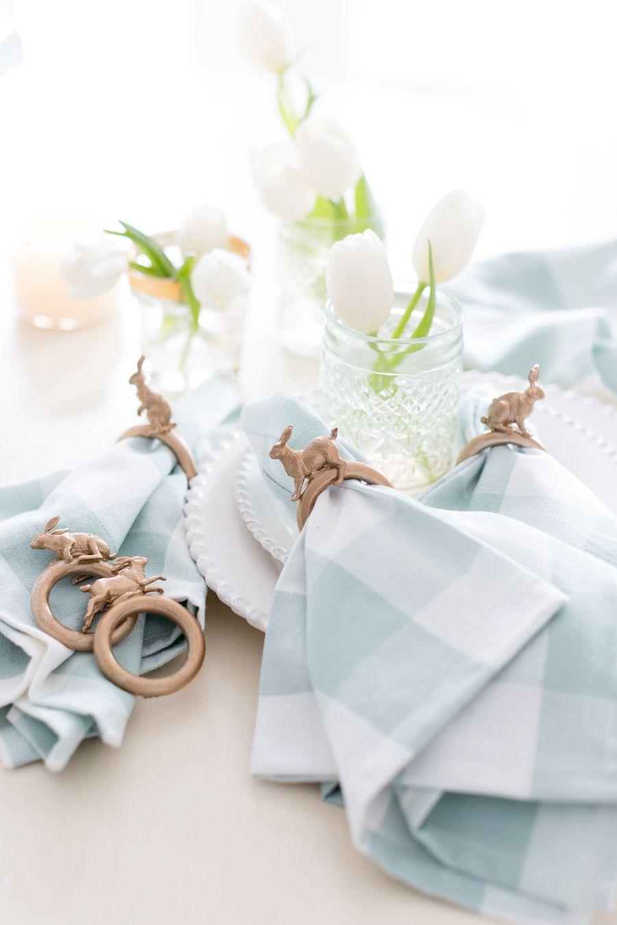 DIY Easter Bunny Napkin Ring Bunny napkins, Easter diy