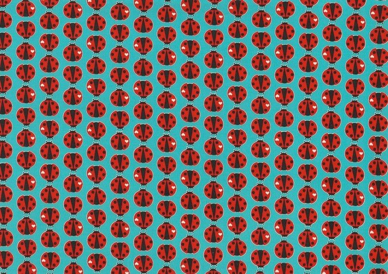Jerseystoff Ladybird Öko-Tex von Cherry Picking von MaLoo auf DaWanda.com