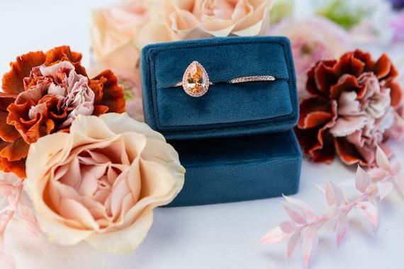 Photo of Velvet ring box – Rectangular ring box – Wedding – Gift – Riverside