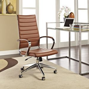 Modway Jive Highback Office Chair in Terracotta