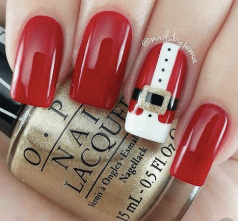 12 Holiday Nail Designs That Are Festive AF - Society19 #holidaynails