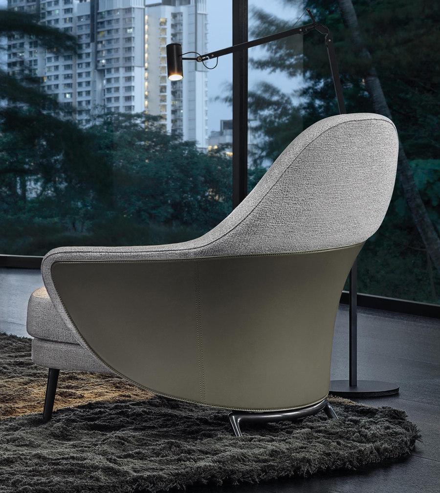 Upward Curve Minotti In 2020 Armchair Design French Design Classic Armchair
