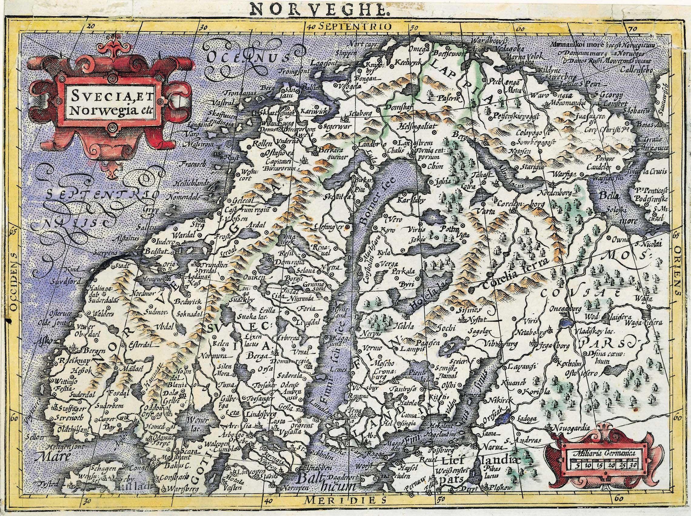 Scandinavia Map North Europe Map Norway Map Sweden Map Old Etsy In 2020 Sweden Map Norway Map Old Map