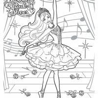 Desenho De Barbie No Filme Sapatilhas Magicas Para Colorir Com