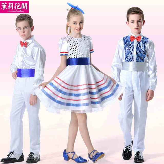 e7faf78f19 children s costumes suspenders chorus of primary and middle school students  take dance costumes private chorus costumes