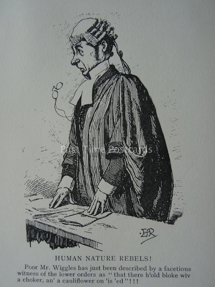 Details about Barrister Law Wig & Gown HUMAN NATURE REBELS! c1909 Cartoon #edwardianperiod
