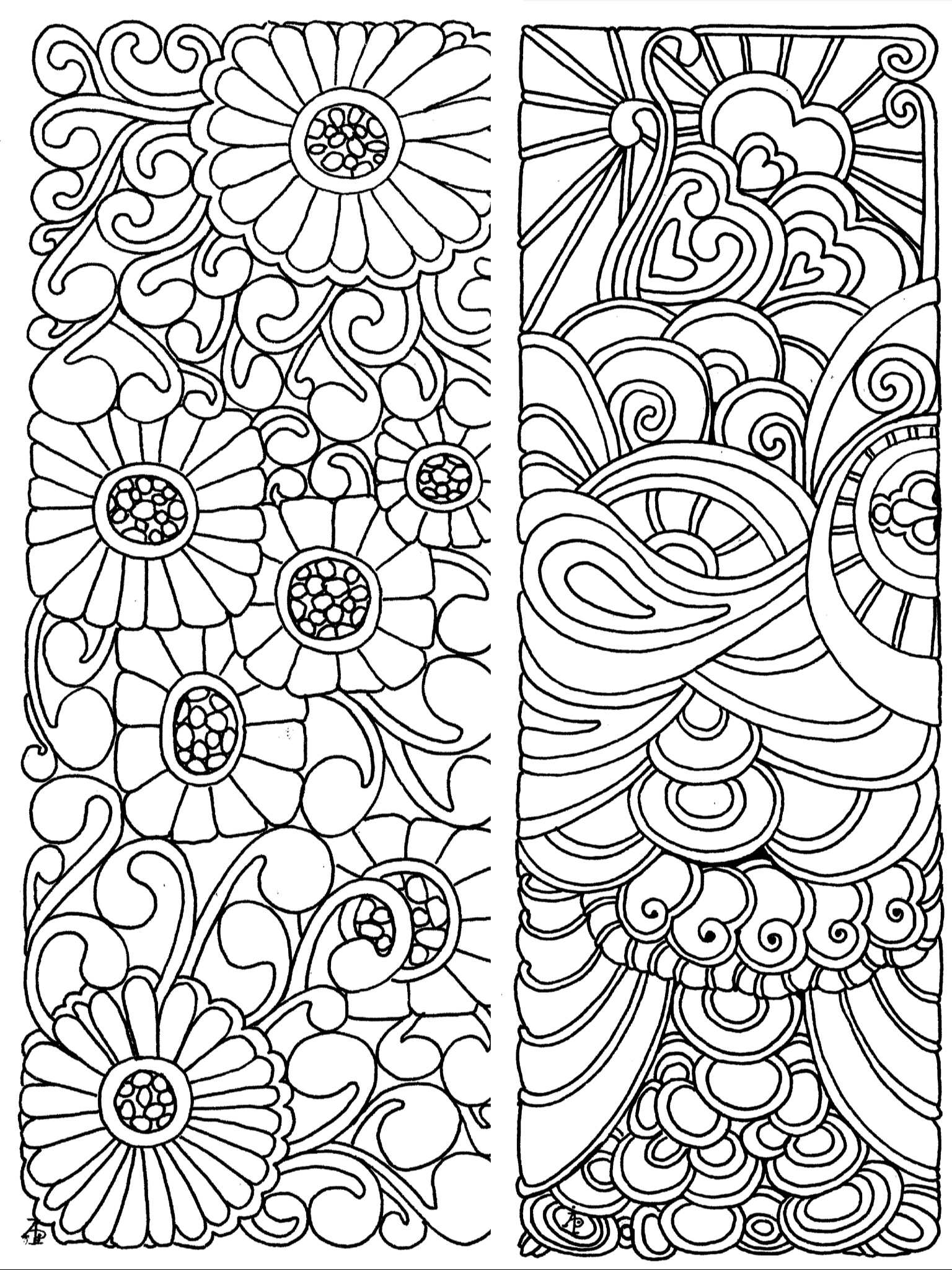 Coloring Page Bookmarks
