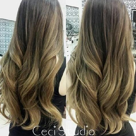 Soft honey blond Balayage ombre from hair color specialist - Honey ...
