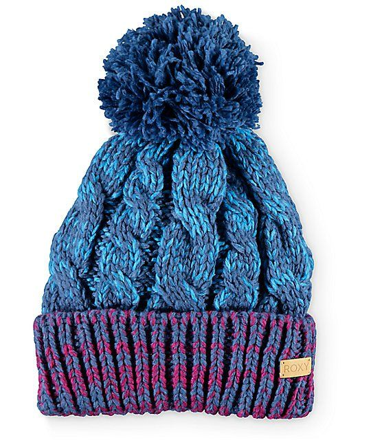 124bdd478da Heat things up from the slopes to the streets with this thick cable knit  pom beanie that features a contrast cuff and a soft polar fleece liner for  warmth ...