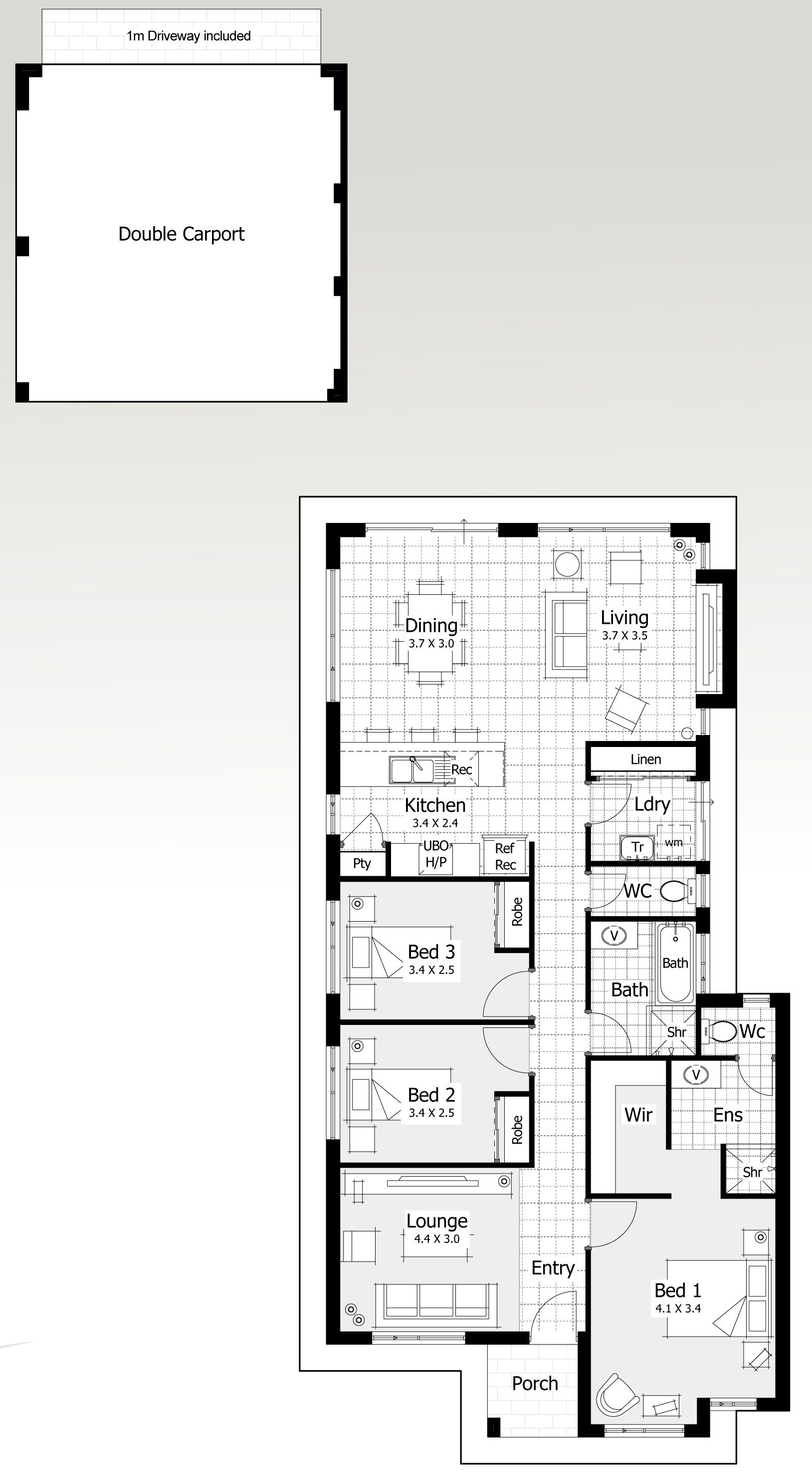 10 and 11 metre wide home designs home buyers centre for Loft home designs perth