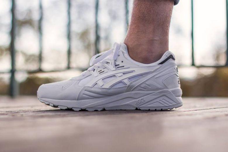 plain white asics trainers