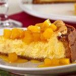 Receita de Torta gelada de maracujá com calda de manga (Cheese cake)